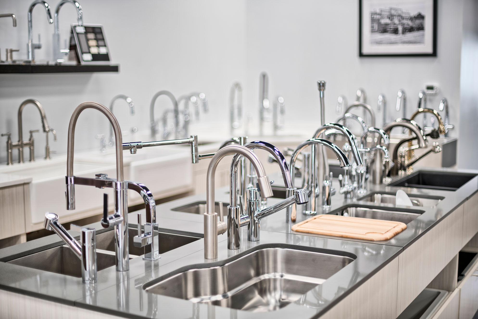 Showroom faucets
